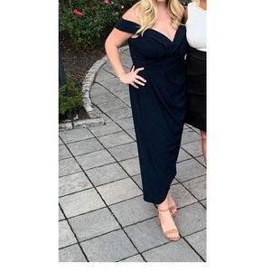 Navy Blue Evening Guest Midi